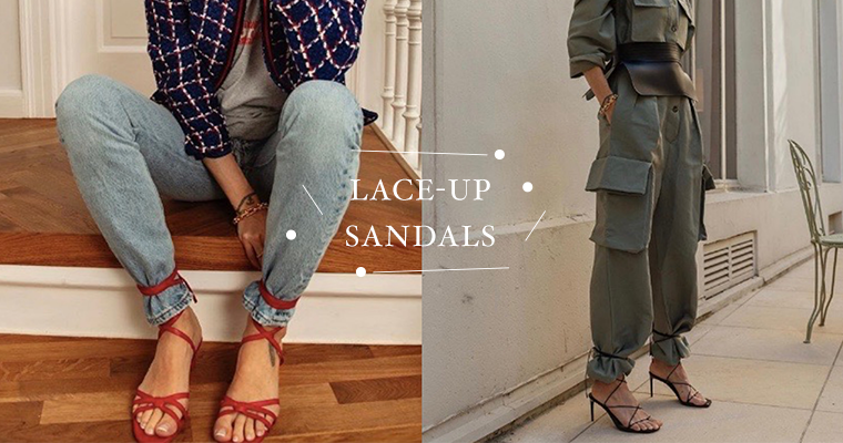The Newest Way To Wear Lace-Up Sandals, As Told By The Instagram Influencers